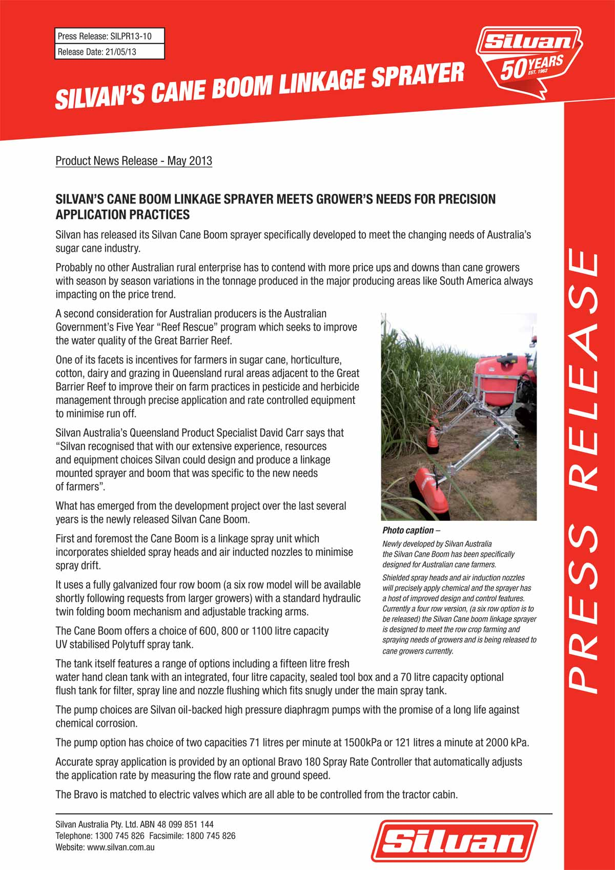 silvan cane boom press release page1