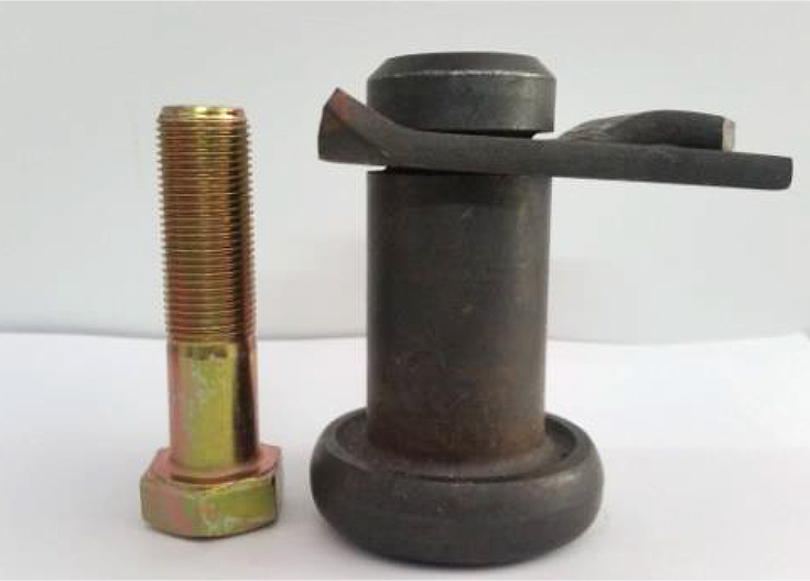 WOODS SLASHER PIN COMPARED TO A STANDARD SLASHER BOLT