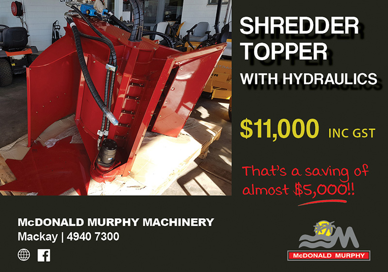 shredd topper with hydraulics promo crush 2018
